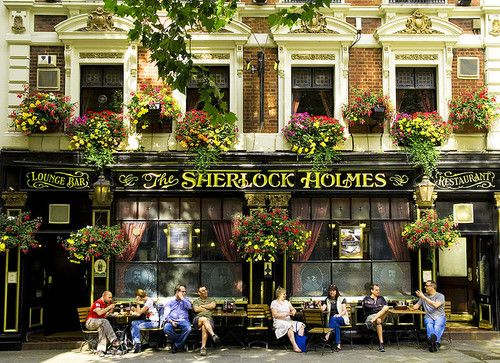 Sherlock Holmes Café. Next to St. Paul's Cathedral and the Stock Exchange in London, UK.