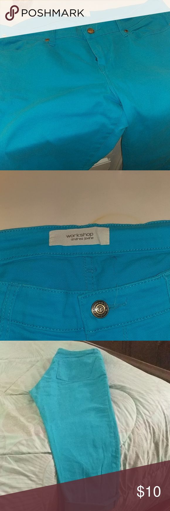 Bright blue jeans Andrea jovine jeans almost new Jeans