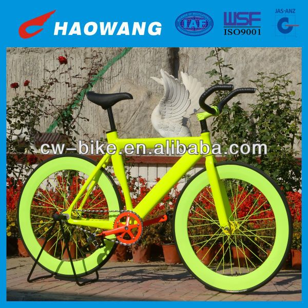 Tianjin Factory Good Quality Cheap Yellow Color Bicicletas Fixie/Bicycle Fixie #bicycles, #Fixie