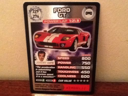 Top Gear Turbo Challenge RARE Ford GT 229/276