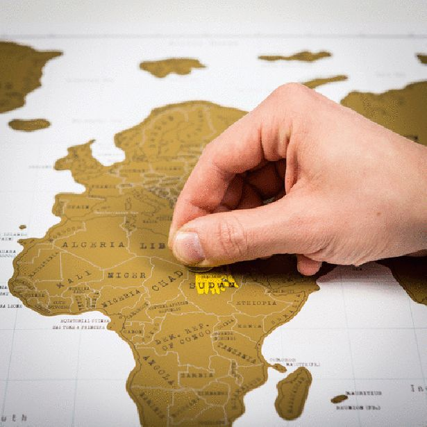 Weltkarte scratch map weltkarte geschenk und deko - Weltkarte basteln ...