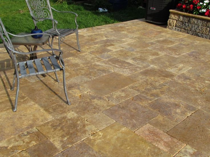 Travertine Patio Stones | Antique Gold Travertine French Pattern Patio  Pavers | Patio | Pinterest | Travertine, Patios And Outdoor Living Patios