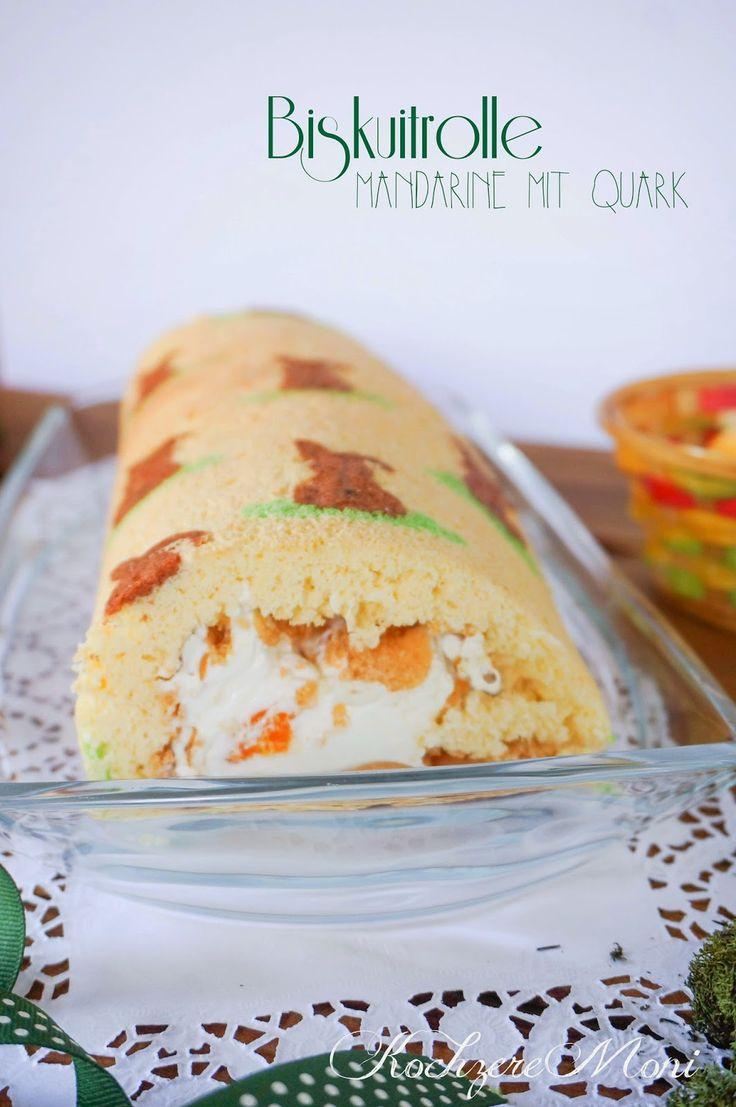 KochzereMoni: Happy Easter! Osterhasen Biskuitrolle gefüllt mit Mandarinen-Quark