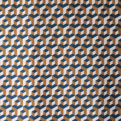 M :: Iván Meade - Cubo fabric in Cenote/Miel/Crema #ivanmeade #fabrics
