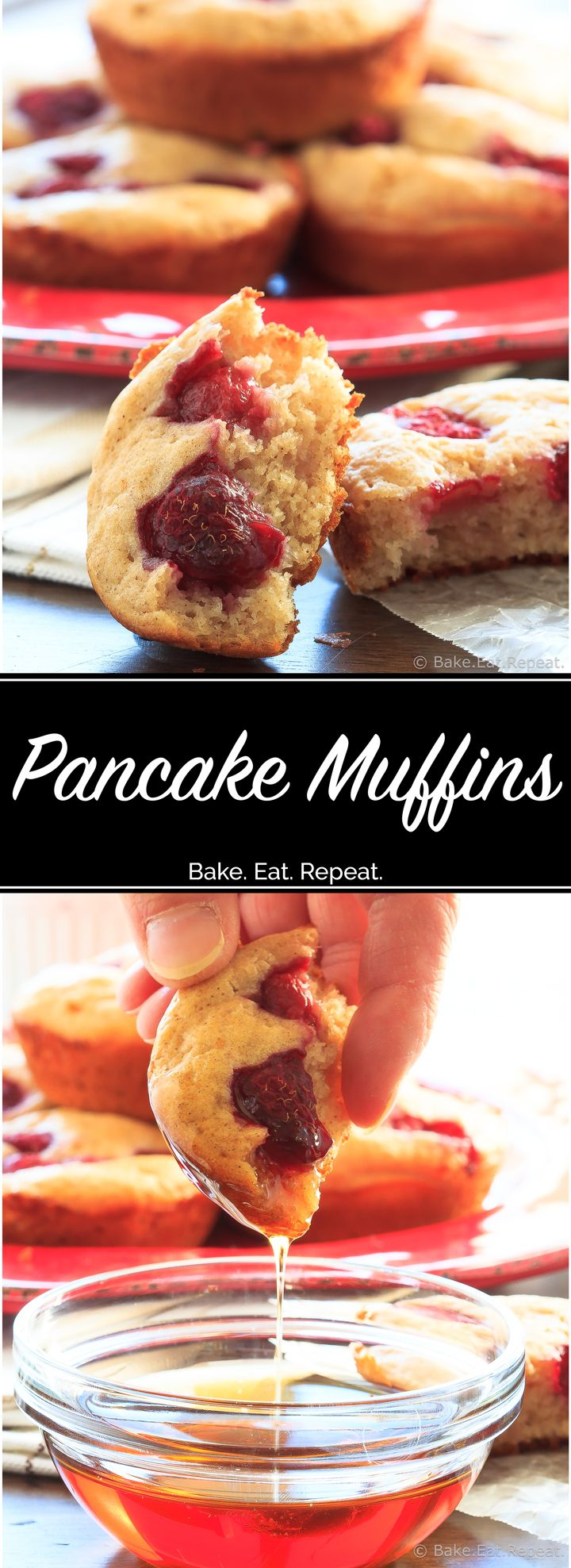 Pancake Muffins - Pancakes in muffin form. Because pancake muffins are cute and fun and who doesn't need more ways to make and enjoy pancakes?