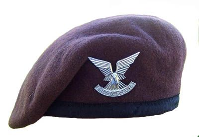 Selous Scout Officer's Beret and Silver Cap Badge.