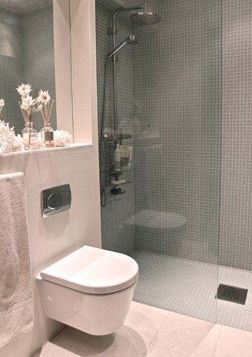 curbless shower, wall mount toilet. weekend wandering: Norway | refresheddesigns.sustainable design