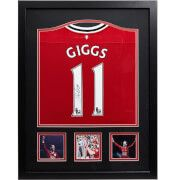 #All Star Signings Ryan Giggs Signed and Framed Manchester United #This is an official replica Manchester United 2012/13 shirt signed by legend Ryan Giggs. The most decorated player in English football history, Ryan Giggs won 13 Premier League titles, four FA cups and two Champions League winners medals to name but a few. A perfect gift for any Man United fan, the shirt is presented in an attractive frame with photos of Giggs in action. The shirt was personally signed by Ryan Giggs in a…