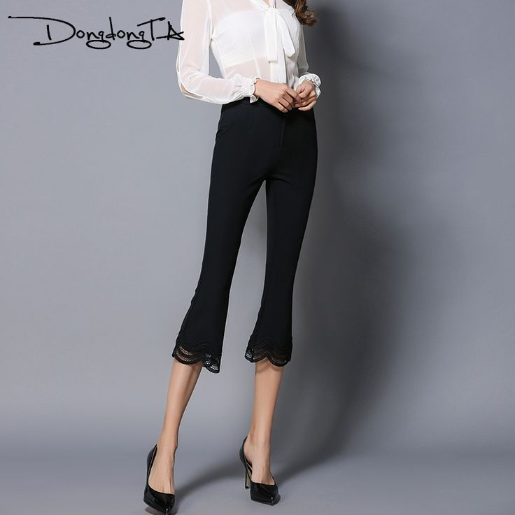 Cheap skinny pants, Buy Quality designer pants directly from China fashion pants Suppliers: Dongdongta New Women 2017 Pants Original Design Pants Capris Fashion Skinny Pants Calf-Length Pants Solid Mid Waist Falare Pants