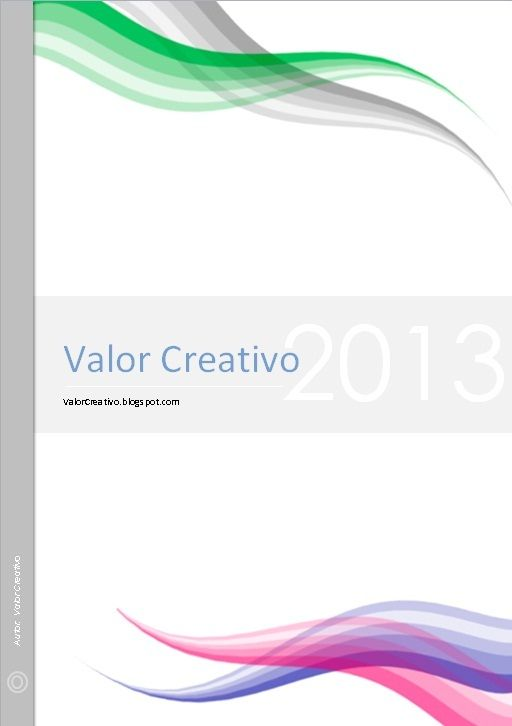 Valor Creativo: Portadas Word                              …
