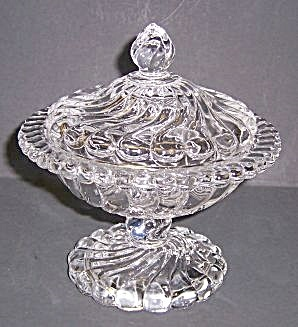 Fosteria Crystal Candy Dish