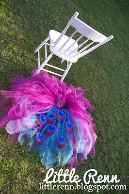 Just in case someday i have a little girl... Peacock tutu.  DIY instructions/tutorial.
