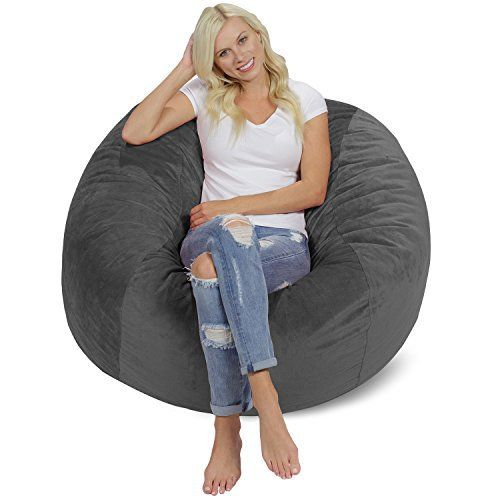 Great for an adult, perfect for your little ones, and 10 times more comfortable than traditional bean bag chairs! Our bean bag furniture is built to last, and comes with an internal liner that allows the cover to be machine washed at home for easy clean-up. The inner liner of all Chill Sacks... more details available at https://furniture.bestselleroutlets.com/game-recreation-room-furniture/bean-bags/product-review-for-chill-sack-memory-foam-bean-bag-chair-4-feet-grey-pebble/