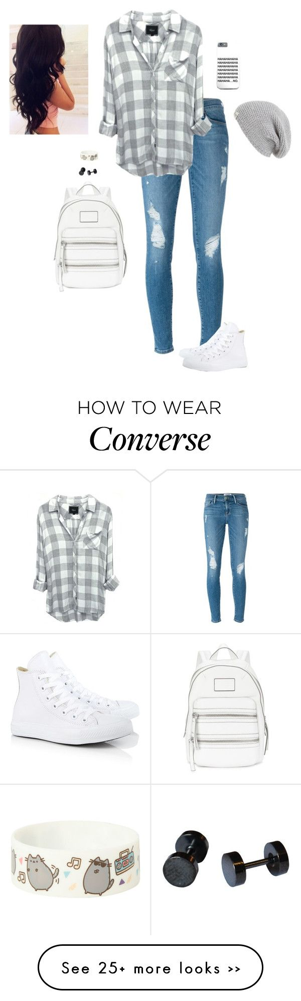 """#BTSWithHana"" by hanakdudley on Polyvore featuring Frame Denim, Marc by Marc Jacobs, UGG Australia, Converse and BTSWithHana"