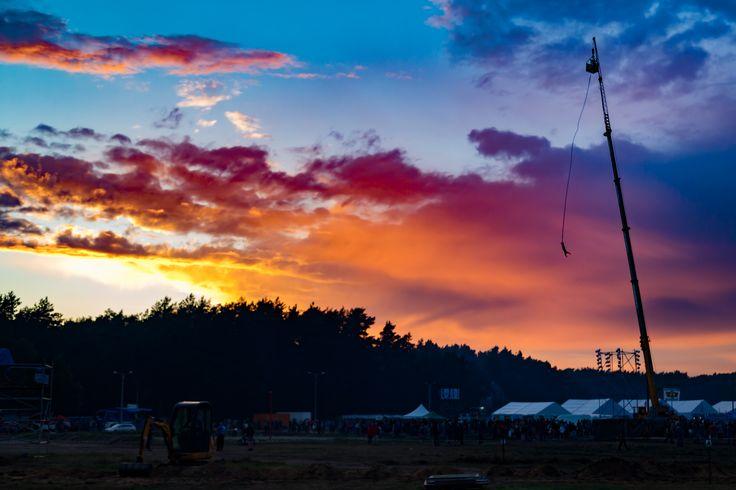 Zachód słońca nad woodstockowym polem! Woodstock Festival 2015