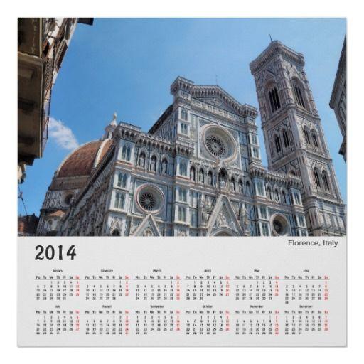 Florence, Italy 2014 poster calendar
