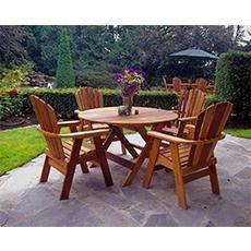 Ensemble de salle à manger avec table ronde de Bear Chair - Cèdre