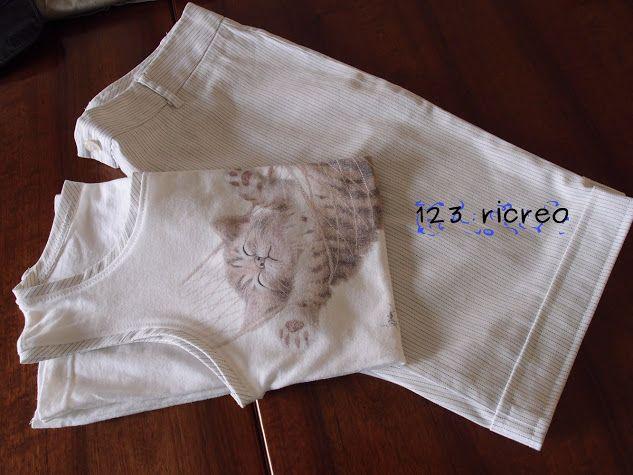 completo pantaloncini #canottiera di  #riciclo -123ricreo - Google+