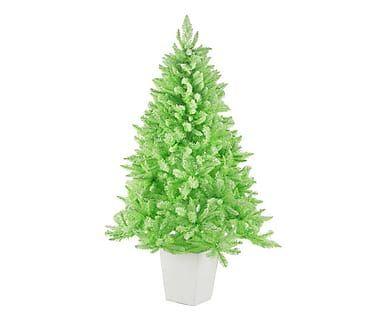 Albero artificiale con vaso in PVC Lucrezia verde acido, 100x160 cm