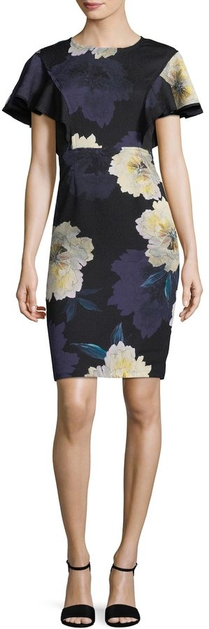 Tracy Reese Women's Graphic Crewneck Dress