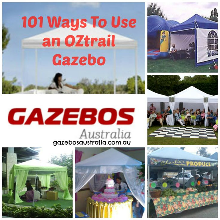There are 101 ways to use an OZtrail gazebo. Just take a look at the snapshots of people popping up their gazebos all over the world! Read the article here > http://www.gazebosaustralia.com.au/pages/101-Ways-to-Gazebo.html
