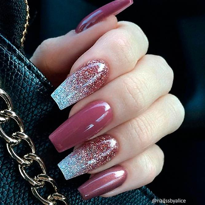 Impressive Ways To Introduce Mauve Color Into Your Fancy Mani Mauve Nails Tapered Square Nails Square Nail Designs