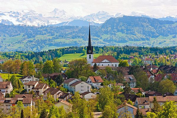 The Village Of Gossau Canvas Print / Canvas Art by Picture by Tambako the Jaguar