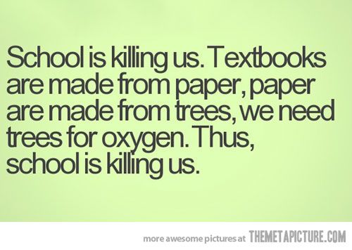 paper IS made from... School is not working.