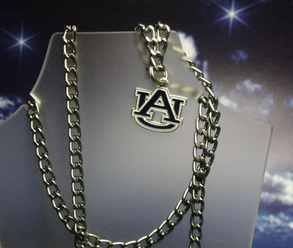 Auburn Tigers Necklace or Rear View Mirror Charm by joolrylane, $28.00