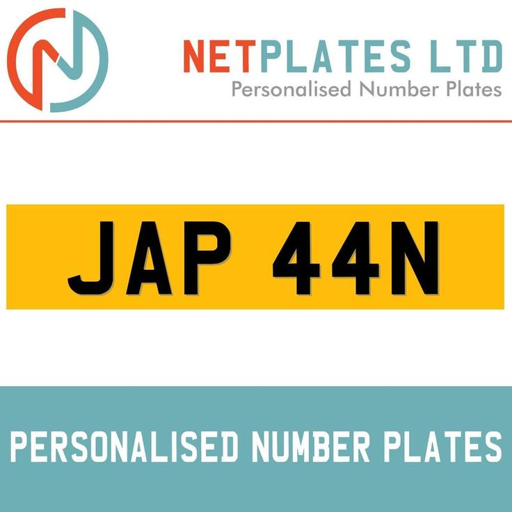 JAP 44N PRIVATE PLATE REGISTRATION PLATES CHERISHED REG PLATES RETENTION CHEAP