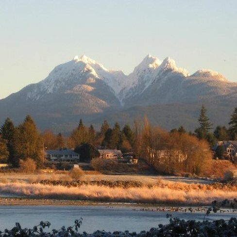 Golden Ears Mountains from Fort Langley