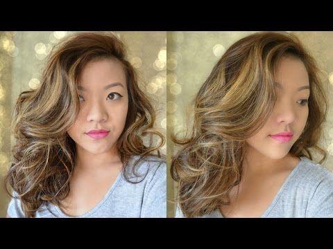 Big Wavy Curls for Medium Length Hair - Bombshell Curls - YouTube