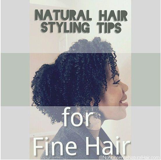 nononsensenatural | 10 Styling Tips for Fine Natural Hair