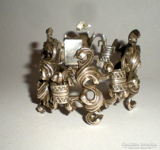 Régi ezüst karlánc- aprólékosan megmunkált