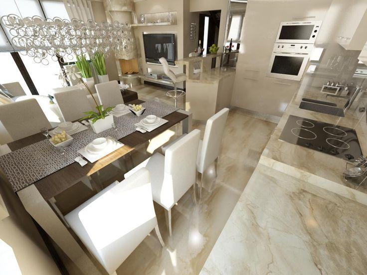 Kuchnia styl Glamour - zdjęcie od iProjektowanieWnętrz