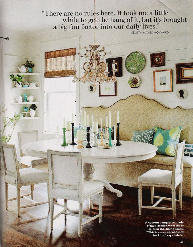 seleta's home: Kitchens, Dining Rooms, Decor, Ideas, Bench, Diningroom, Space