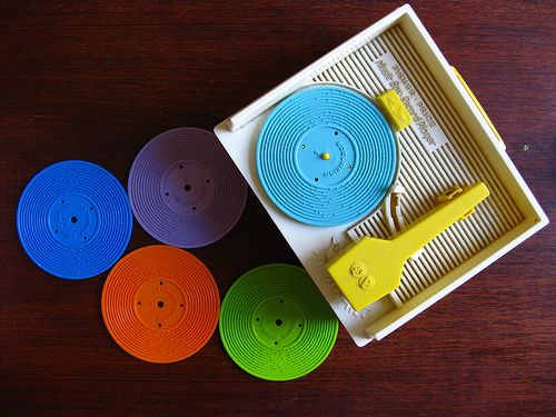 Fisher Price record player.  Maybe this is where I started my love for vinyl?