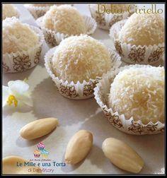PRALINE RAFFAELLO RICETTA DI: DELIA CIROELLO Ingredienti: 3 tavolette di cioccolato bianco (io ne ho messe due) da 100 gr una confezione di mascarpone