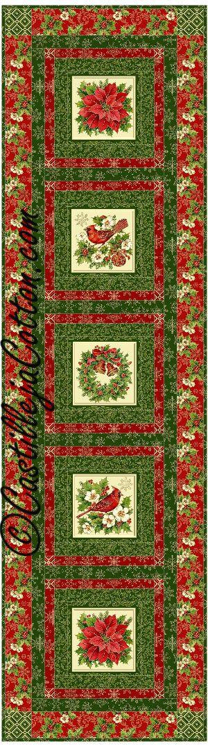 Windows Table Runner Quilt Pattern - Christmas #TableRunnerquiltpattern #northcottTisTheSeason
