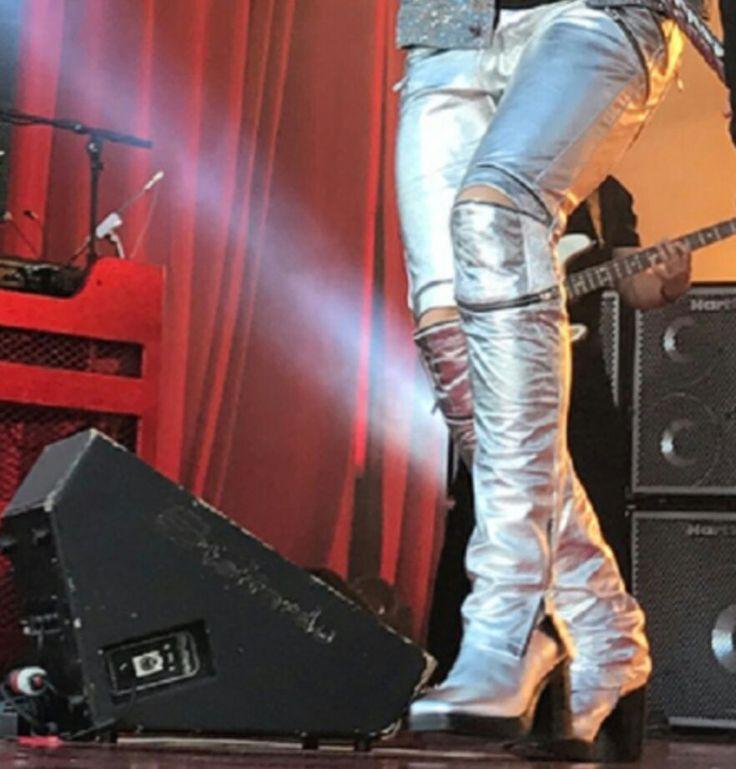 Adam's Silver Boots   Source: IG acct 1iota Jimmy Kimmel Live 22 Jun 2017