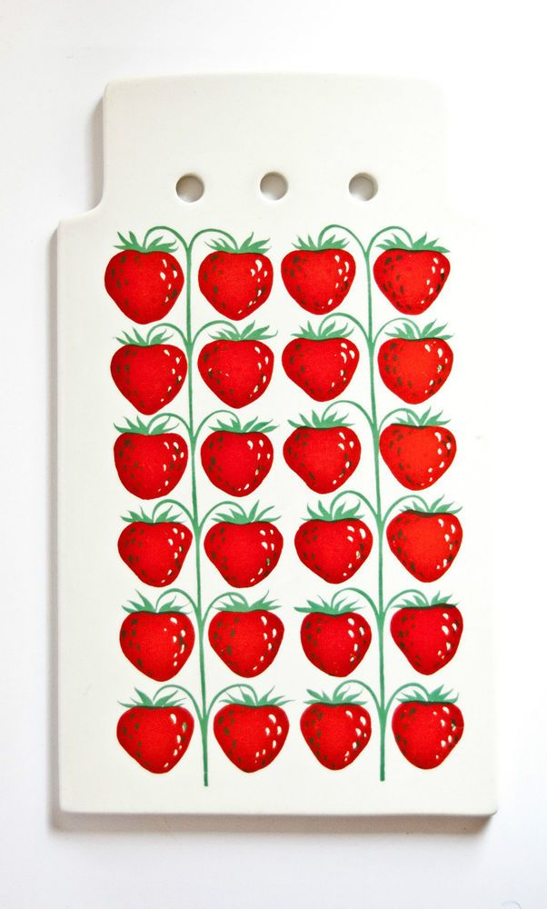 Vintage ARABIA Finland - Large Board Platter, Pomona Strawberry