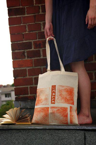 En la calle· Einzelstück/ Unique Tote Bag/ Beutel - TRASTÉVERE