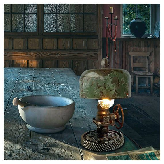 Retro table lamps Industrial steampunk lights Lamp for