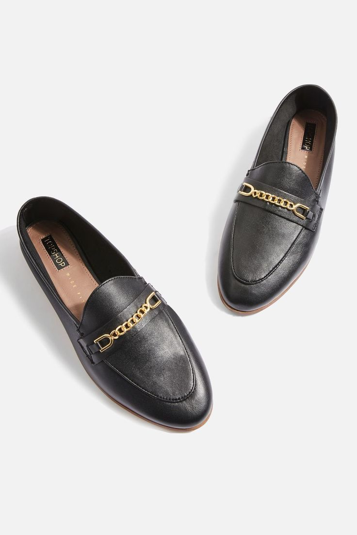 **WIDE FIT Chain Trim Loafers - Loafers - Shoes - Topshop
