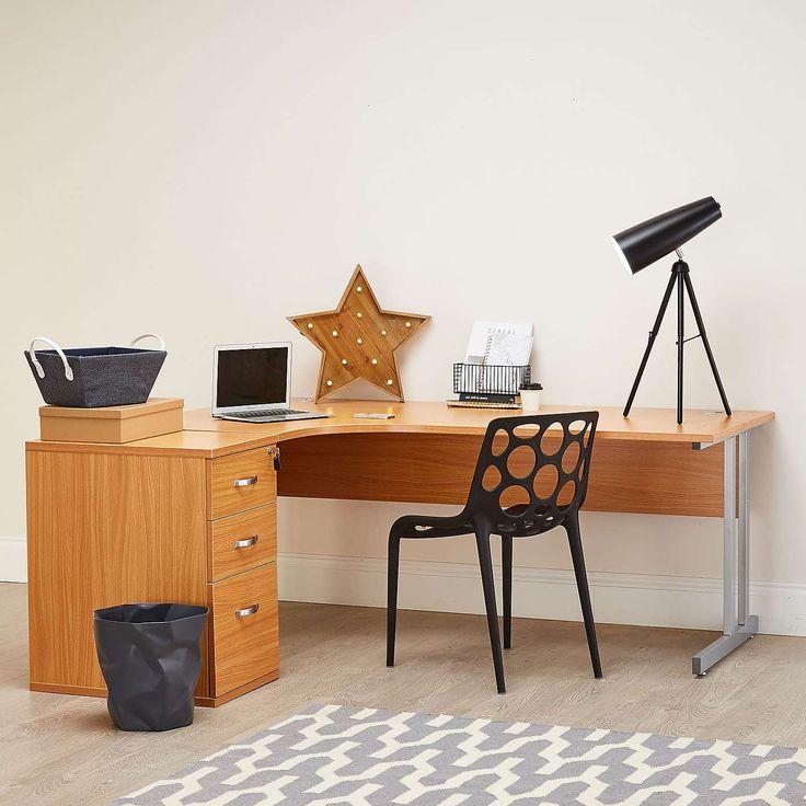 Ergonomic Left Hand Workstation And Desk High Pedestal