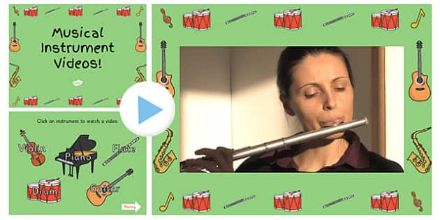 Musical Instrument Video PowerPoint-musical instrument