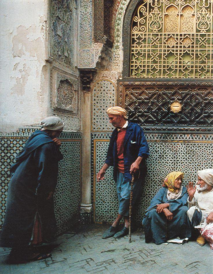 Le sanctuaire de Moulay Idriss est un lieu sacré à Fès- photo de Bruno Barbey