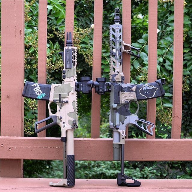 300 blackout PDW SBRs. Which one are you going with??? Comment below! - Left is a 6.2 inch @kak_industry barrel - Right is a 10.5 inch @odin_works barrel - Both with cerakote by @sgtozzy, @elftactical triggers, @trijicon MROs with @slrrifleworks mounts, and @fortismfg hammers. - #sbr #300blackout #gun #guns #gunsdaily #dtom #molonlabe #merica #sickguns #freedom #badass #beast #camo #ammo #savage #2a #2ndamendment #usa #igmilitia #tactical #rifle #pewpew #edc #weapon #weapons #weaponsdaily…