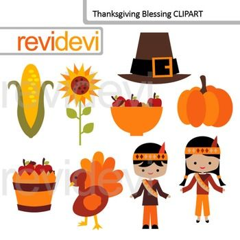Thanksgiving clip art. This thanksgiving blessing clipart set includes 9 digital graphics. Kids, turkey, pumpkin, sunflower, corn, are among the images. Great for harvest time themed projects.Cute clip art set for teachers and educators. Great resource for any school and classroom projects such as for creating bulletin board, printable, worksheet, classroom decor, craft materials, activities and games, and for more educational and fun projects.You will receive:- Each clipart saved…
