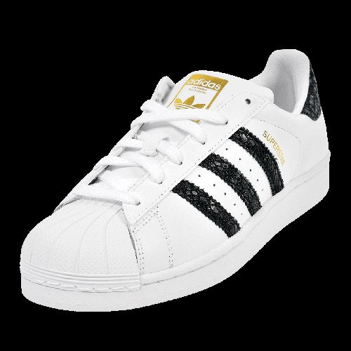 adidas superstar black and red stripe shoe